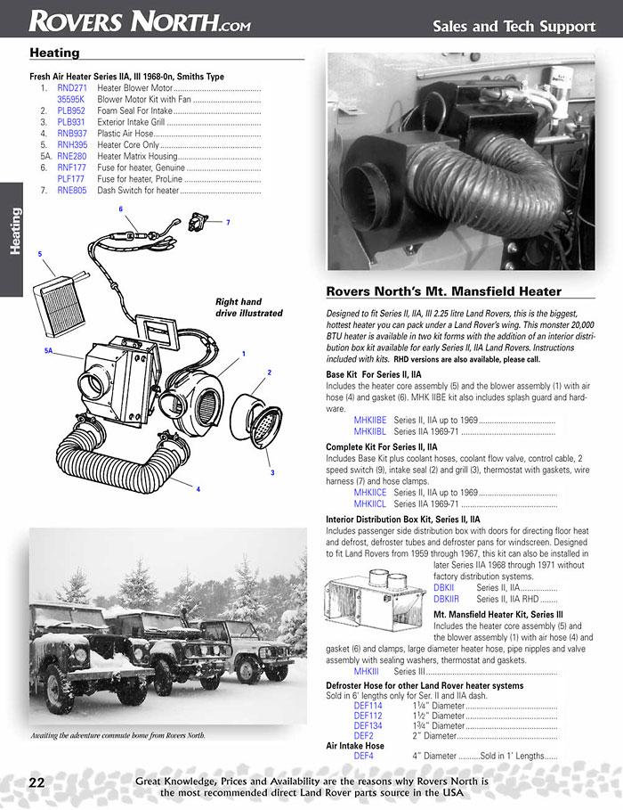 240v Heater Wiring Diagram Land Rover Series Ii Iia Amp Iii Cooling Amp Heating