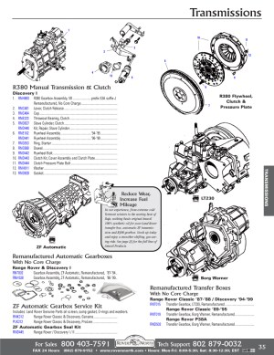 Range Rover Classic Gearbox Transmission | Rovers North  Land Rover Parts and Accessories Since
