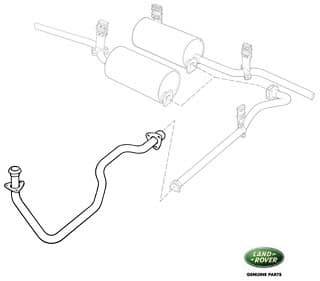 Series II, IIA, III, Exhaust Pipes, Hangers, Muffler