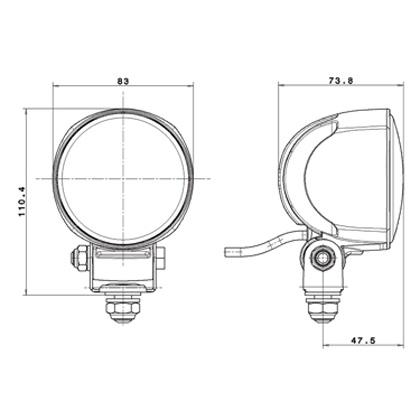 Hella Micro 70 LED Driving Lamp Kit Pair H15176201