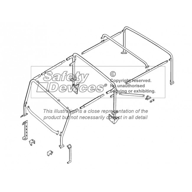 ROLL CAGE FULL EXTERNAL DEFENDER 90 SOFT TOP, RBL1887SSS