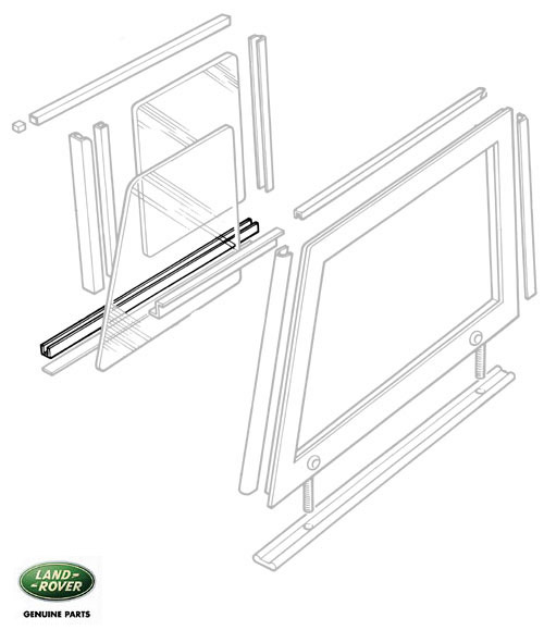 WINDOW TRACK DOOR TOP LOWER SERIES II, IIA & III, RNB948