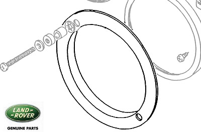 GASKET HEADLAMP BUCKET SERIES, RANGE ROVER CLASSIC