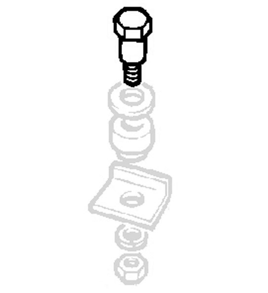 BOLT REAR OF FUEL TANK SERIES IIA & III, RNC329, 543803