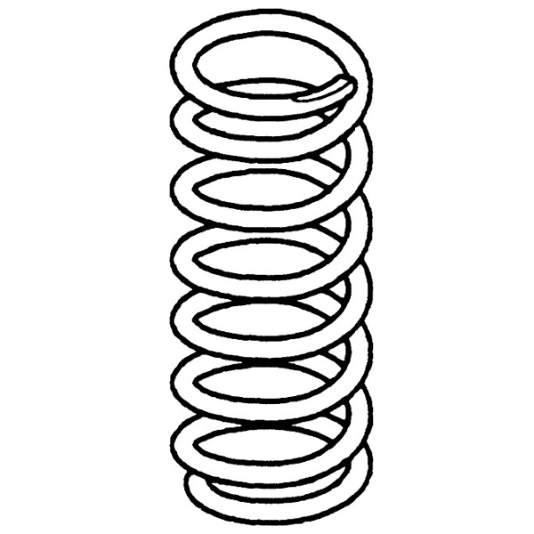 COIL SPRING FRONT AXLE DISCOVERY II PINK/ORANGE, RND795