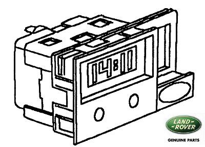 CLOCK DIGITAL-LCD SILVER W/O HAZ SWTCH S, RNE962, STC1800