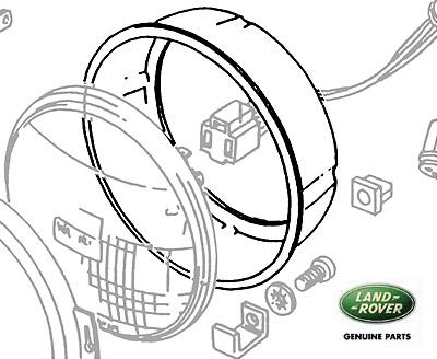 RIM INNER HEADLAMP BUCKET DEFENDER & RANGE ROVER CLASSIC
