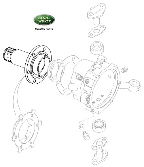 SPINDLE FRONT AXLE RANGE ROVER CLASSIC, RNH015, FTC57