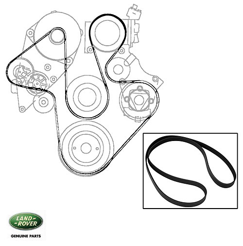 SERPENTINE BELT A/C DISCOVERY II W/O ACE 2342MM, RNH145