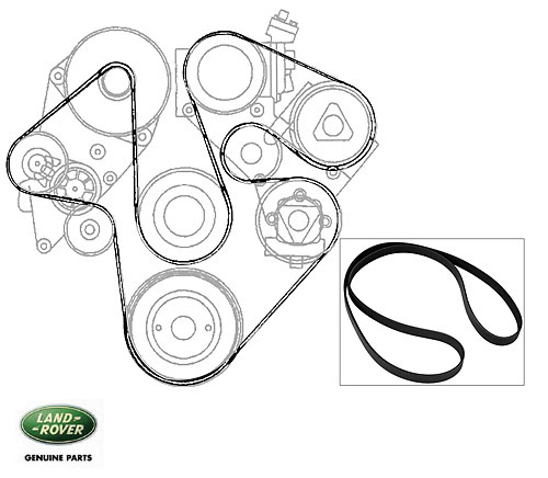 SERPENTINE BELT DISCOVERY II W/ACE AND A/C, RNH147