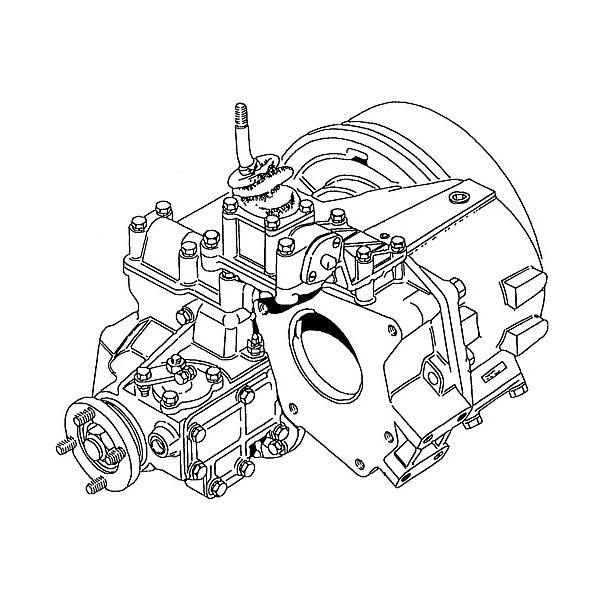 REBUILT TRANSFER BOX 1.214:1 LT230T , RNT015, IAB100020R