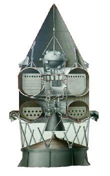 Το επάνω τμήμα του πυραύλου Luna-2