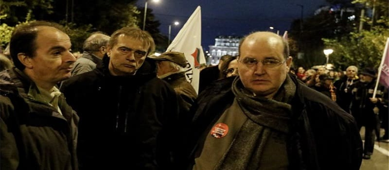 Άγριο κράξιμο διαδηλωτών κατά του μπλοκ του ΣΥΡΙΖΑ