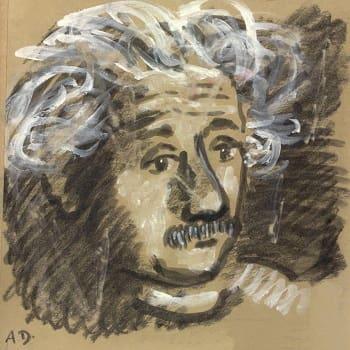 Albert Einstein (1959), Σκίτσο του Alexander Dobkin