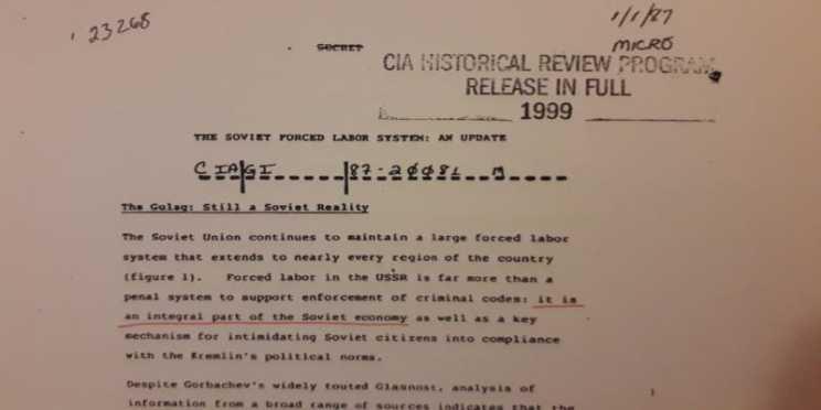Όταν η CIA αποδομεί το μύθο των Γκουλάγκ