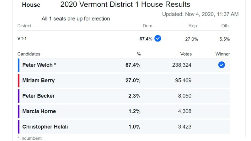 Βερμόντ: Το 1% ψήφισε τον κομμουνιστή Κρις Χελάλι