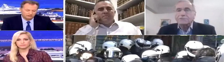 Δημοσιογράφοι του ΣΚΑΪ «στριμώχνουν» εκπρόσωπο των ειδικών φρουρών