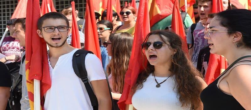 Μαχητική διαμαρτυρία της ΚΝΕ κατά της αποφυλάκισης Κορκονέα