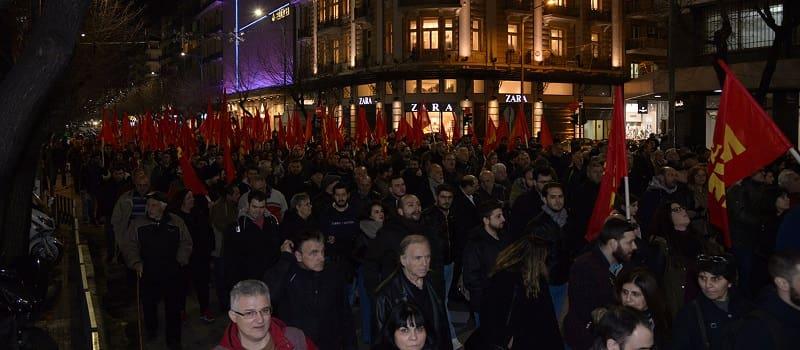 Μεγάλες αντι-Νατοϊκές συγκεντρώσεις σε Σαλονίκη-Αθήνα