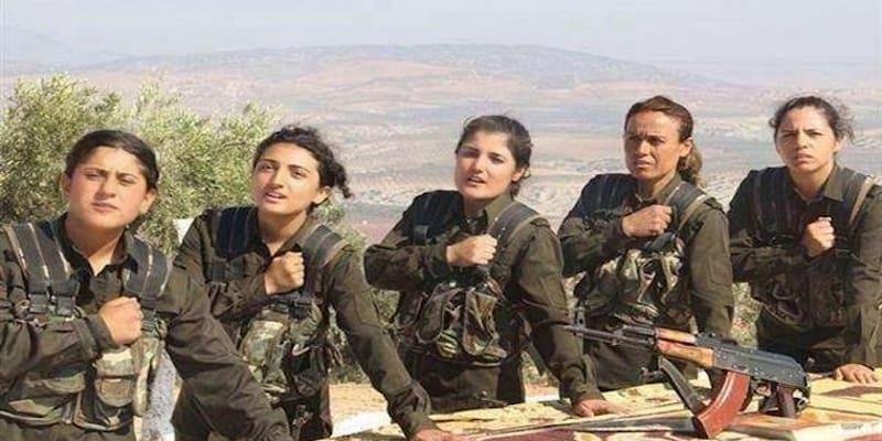 Κούρδισσες αντάρτισσες