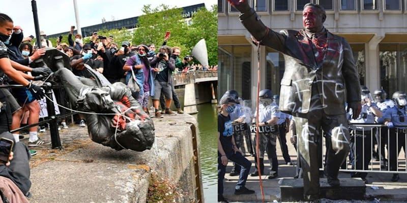 Μπρίστολ: Αποκαθήλωση αγάλματος του δουλοκτήτη, Έντουαρντ Κόλστον από διαδηλωτές