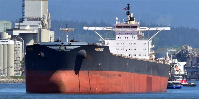 Νεκρός ναυτεργάτης και 9 κρούσματα κορωνοϊού στο M/V Heroic της Nereus Shipping