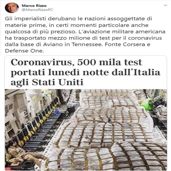 Οι αμερικανοί «φυγάδευσαν» μισό εκατομμύριο αντιδραστήρια κορωνοϊού από την Ιταλία