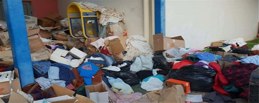 Πεταμένη στα σκουπίδια η βοήθεια για τους πυρόπληκτους