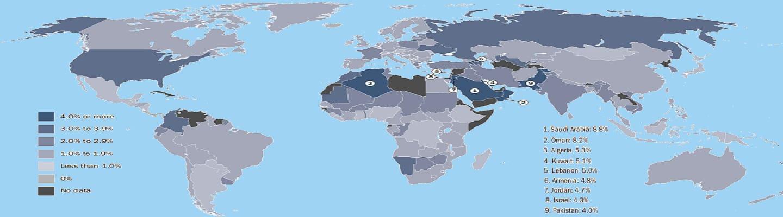 Ρεκόρ 30ετίας οι εξοπλιστικές δαπάνες παγκοσμίως