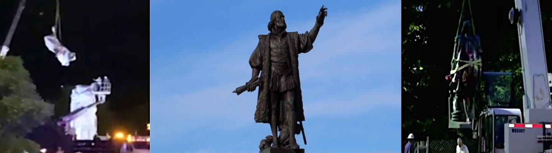 Σικάγο: «Αποκαθηλώθηκαν» δύο αγάλματα του Χριστόφορου Κολόμβου