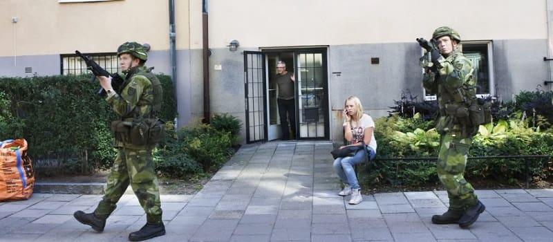 Στρατιωτικές ασκήσεις στις συνοικίες της Στοκχόλμης
