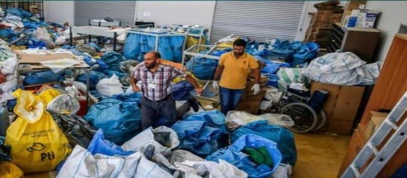 Το Ισραήλ μπλόκαρε αλληλογραφία 10 τόνων επί 8 έτη