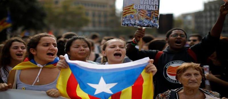 Διαμαρτυρίες στην Βαρκελώνη