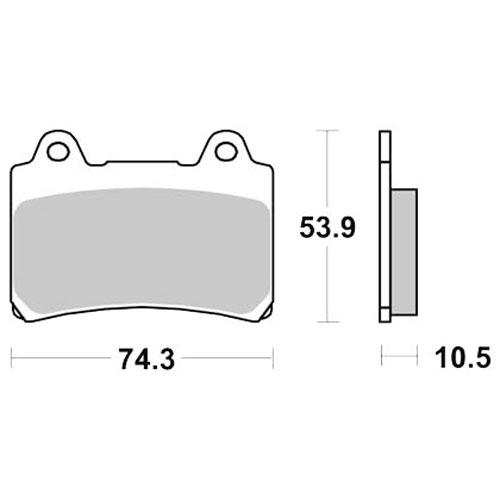 Bremseklosser SBS 590LS