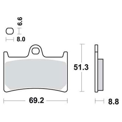 Bremseklosser SBS 634HS