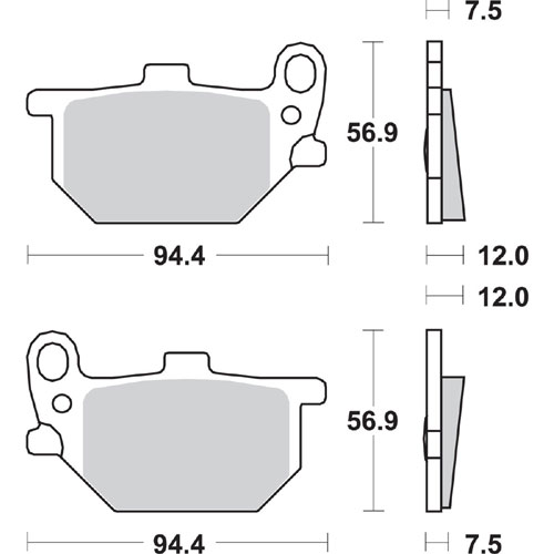 Bremseklosser SBS 545