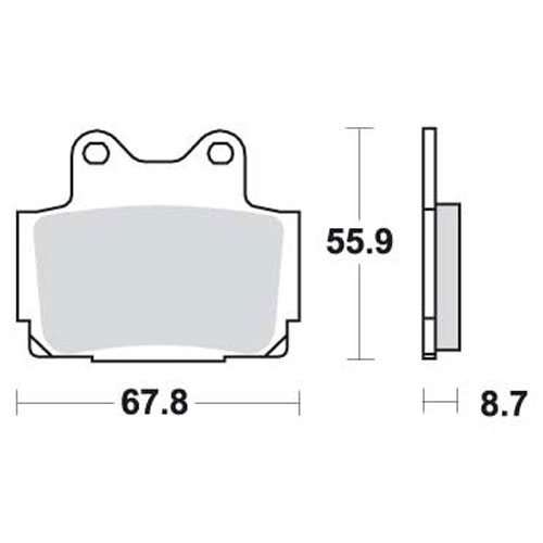 Bremseklosser SBS 570LS