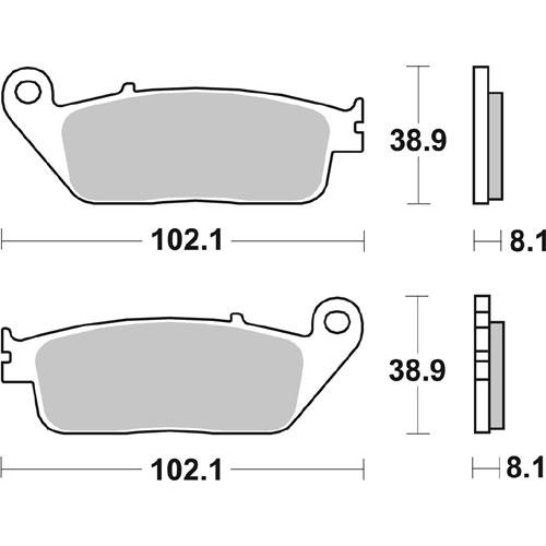 Bremseklosser SBS 627HS