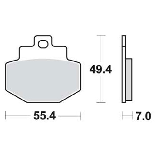 Bremseklosser SBS 166CT