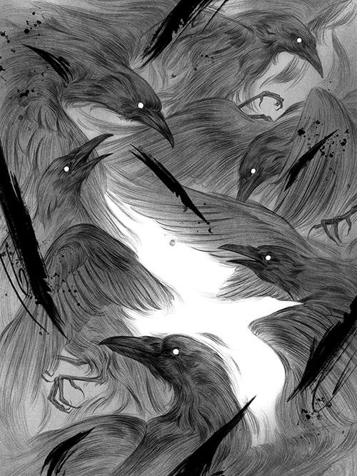 The Seventh Raven: Interior Illustrations