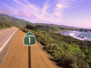 Route 1 sign California