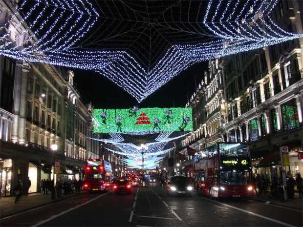 London Regent Street Xmas Lights 2011