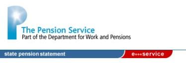 State Pension Statement UK State