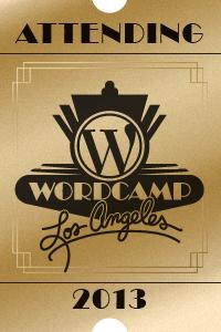 Wordcamp Attendee Logo 2013 Los Angeles