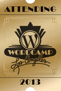 Wordcamp Attendee Logo 2013 Los Angeles