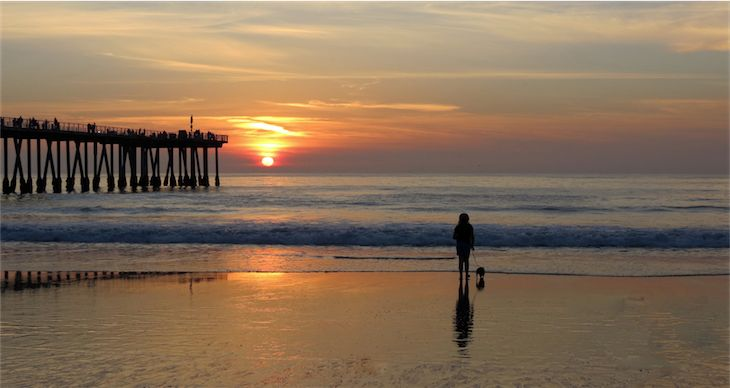 Hermosa Beach California Sunset