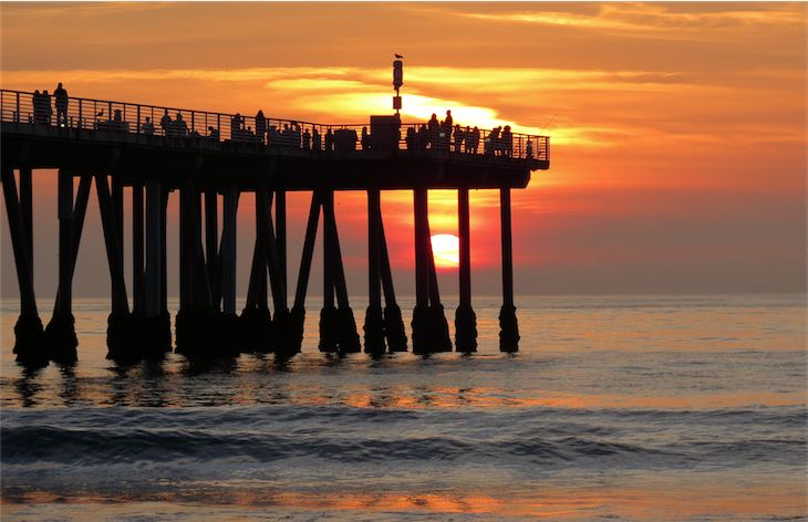 Hermosa Beach Pier California