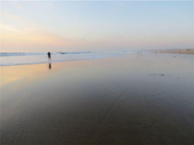 Manhattan Beach Pier from Hermosa Beach California