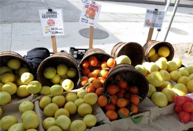 Grapefruit Orange Pomelo Farmers Market Los Angeles California