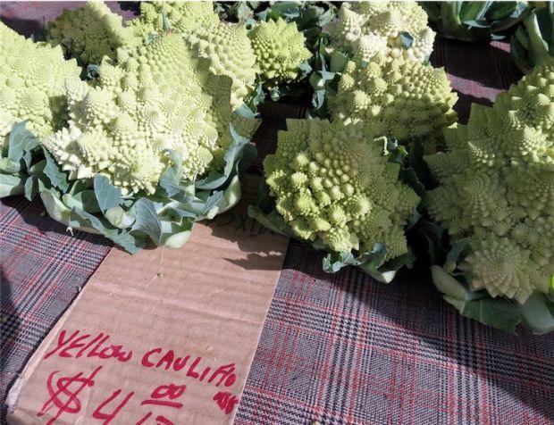 Cauliflower Broccoli Romanesco Los Angeles California Farmers Market
